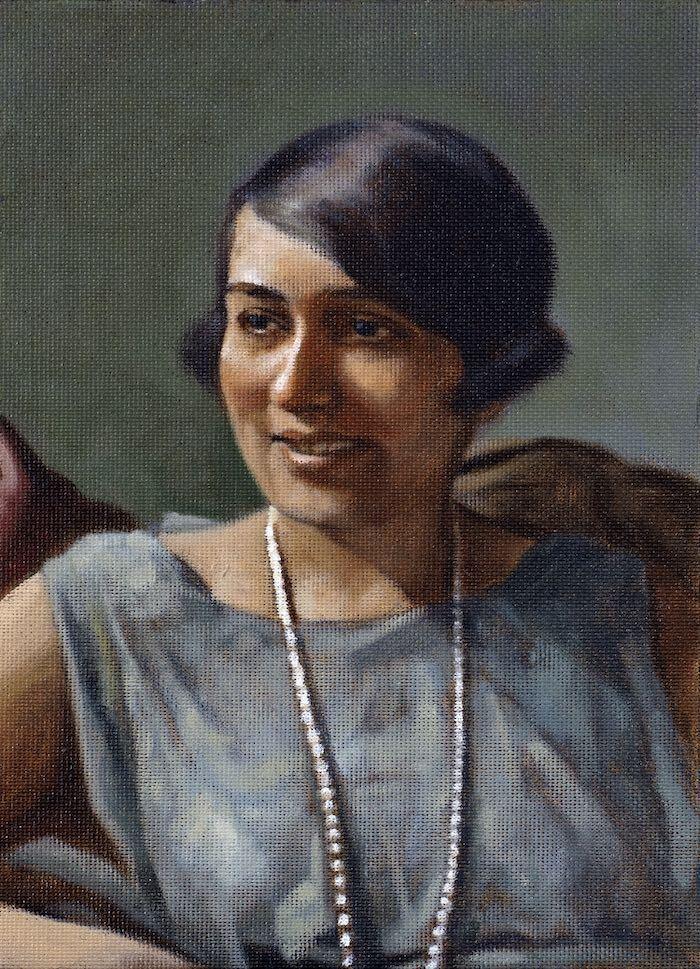 Painting of Effa Manley by Graig Kreindler
