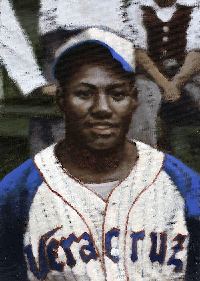Painting of Josh Gibson in 1940 by Graig Kreindler